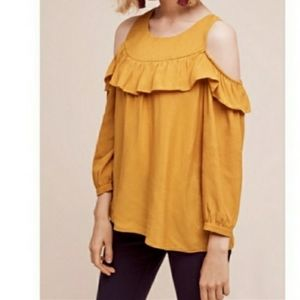 ANTHROPOLOGIE MAEVE Brearly Open Cold Shoulder Top